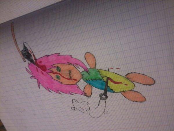 j'adore dessiné des poupée vaudou mdr