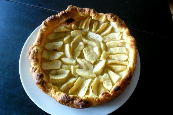 preparation d'une tarte aux pommes