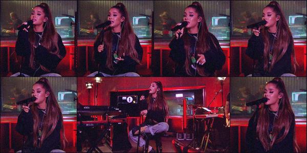 -05/09/18 •- Ariana Grande était invitée aux studios de la : « BBC Radio One » qui se situent dans Londres - UK ! Ari' y à interprété en live son titre R.E.M • vidéo ci dessous. Elle à aussi chanté NTLTC et God is a Woman (clique sur les titres pour accéder aux vidéos).