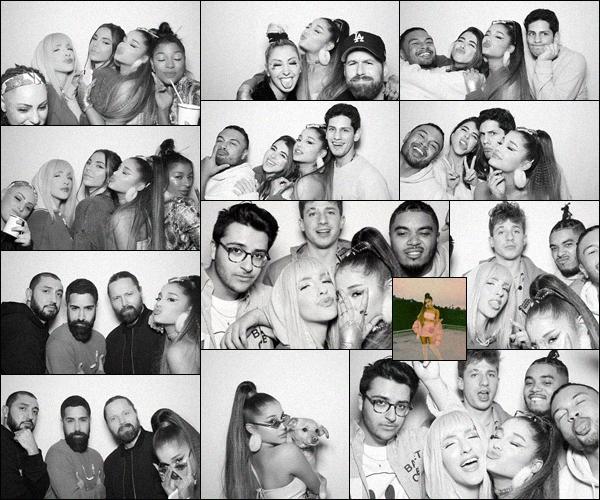 . ⁂ Quelques photos prises lors de la soirée de lancement du single : « 7 Rings »  d'Ariana G. ! .