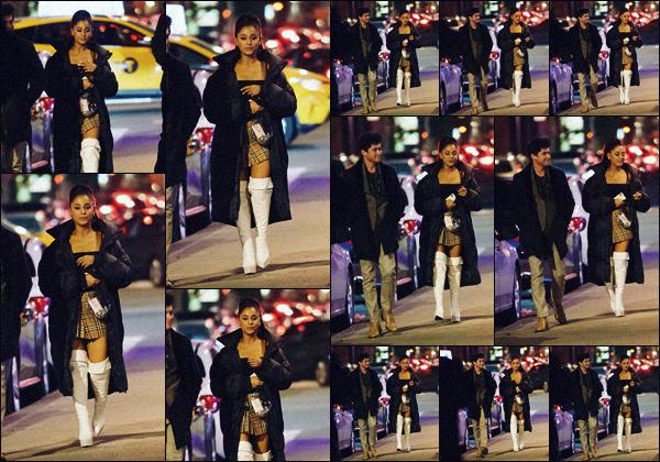 """"""" -09/03/19 •- La ravissante Ariana Grande est photographiée allant dîner au restaurant : « Carbone » à New York.La chanteuse était accompagnée de son ex de longue date : Graham Phillips qui à notamment joué dans la série Riverdale. Qui sera le prochain? Pete D? ."""