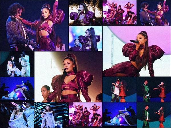 - •• Les 14 et 21 avril 2019 Ariana performait lors du festival  :« Coachella » dans Indio - CA ! En tête d'affiche pour les deux week-end, elle a notamment invité sur scène Nicki Minaj et Justin Bieber. Ariana a tout donné comme à son habitude. -