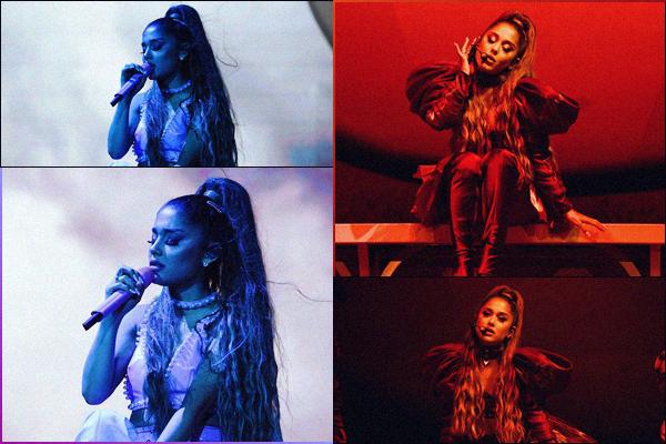 """"""" -04/08/19 •-  Ariana Grande performait lors du final du festival : « Lollapalooza », qui avait lieu dans Chicago - IL !La belle y a chanté la même setlist que pour le Sweetener World Tour, elle y a bien sur interprété son dernier single : Boyfriend avec le duo Social House. ."""