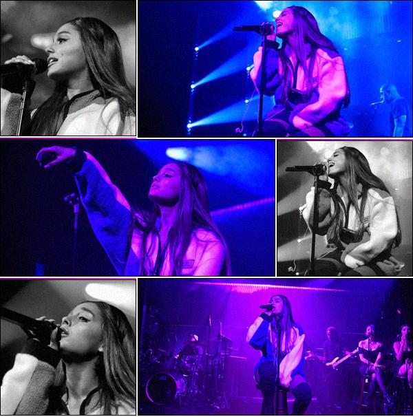 -20/08/18 •- Ariana Grande performait lors de sa « Sweetener Session » ayant lieue au Irving Plaza à New York ! La chanteuse à évidemment interprété la totalité de son album. La reine de la Pop : Madonna était présente ainsi que 1000 fans. Les vidéos ici, ici & ici ! .