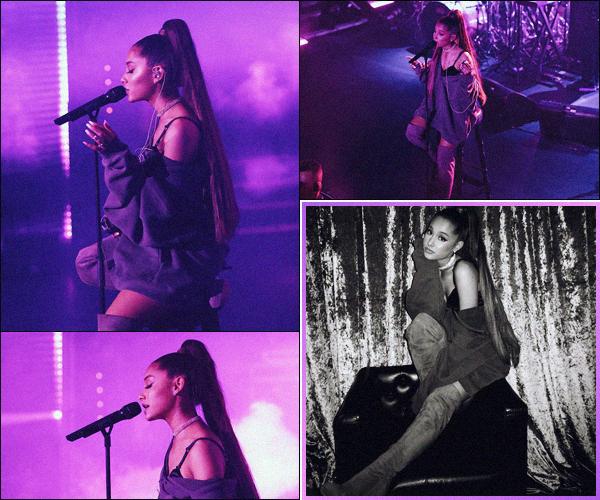 -04/09/18 •- Ariana performait lors de sa « Sweetener Session » aux studios de la radio Capital FM's à Londres ! Ca y est, la chanteuse est enfin en Europe, je trouve vraiment dommage qu'on ait aucunes photos d'elle dans les rues d'Angleterre !! Top pour sa tenue.