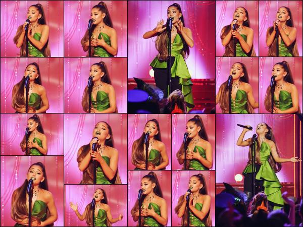 # Ariana a performé lors du 15ème anniversaire de la comédie musicale « Wicked » diffusé ce 31/10 sur NBC. La belle était honorée de pouvoir interprété le titre « The Wizard and I » ce soir la. Vous pouvez retrouver sa performance complète en cliquant juste ici.