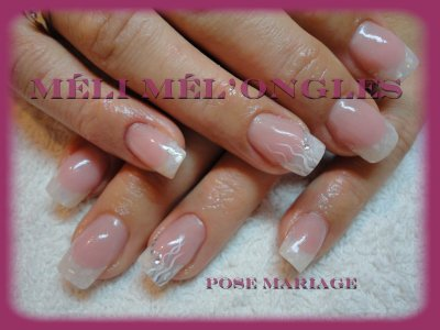ongles mariage french. Black Bedroom Furniture Sets. Home Design Ideas