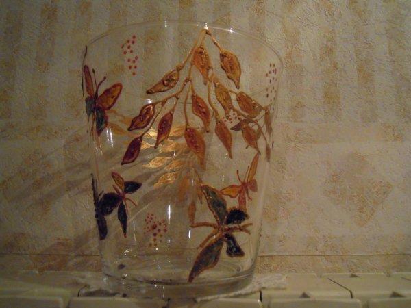 Vase peinture sur verre mes passes temps for Enlever peinture sur verre