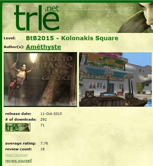 Tomb Raider Level Editor BTB