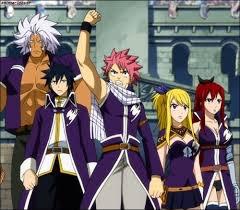 Image de Grey, Jellal,Erza et l'équipe