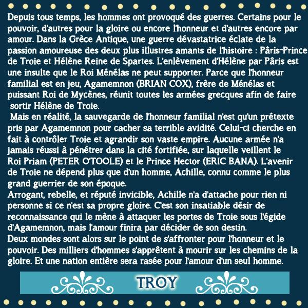 Fiche Film 122 : Troie sortie le 13 Mai 2004   crea: goldenmovie