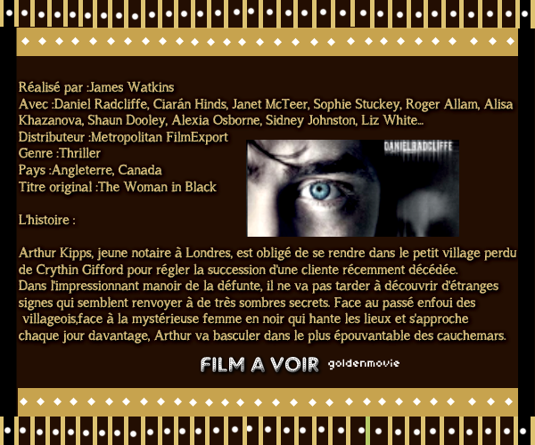 Fiche Film : La Dame en Noir sortira le 14 mars 2012  / Serie / Acteur / Actrice :