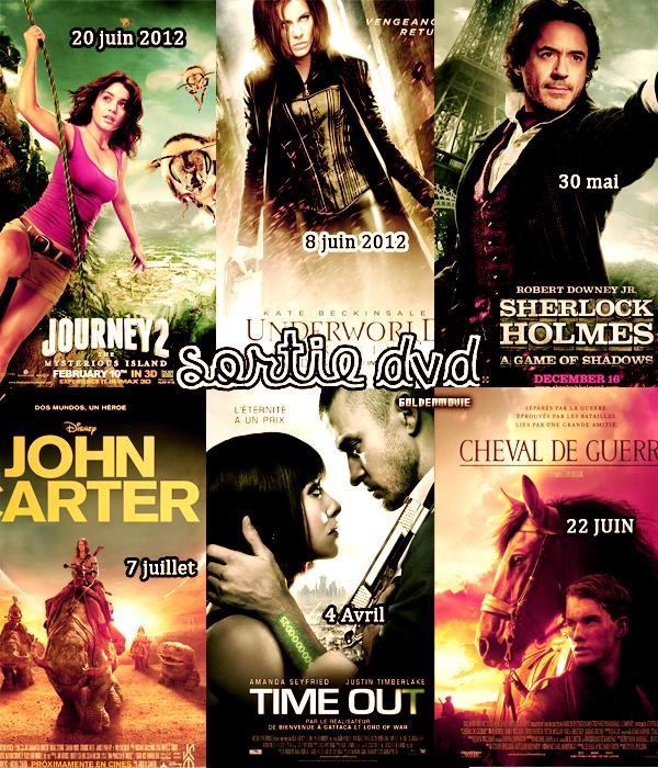 SORTIE DVD DE CETTE ANNEE 2012 DE MARS A JUILLET