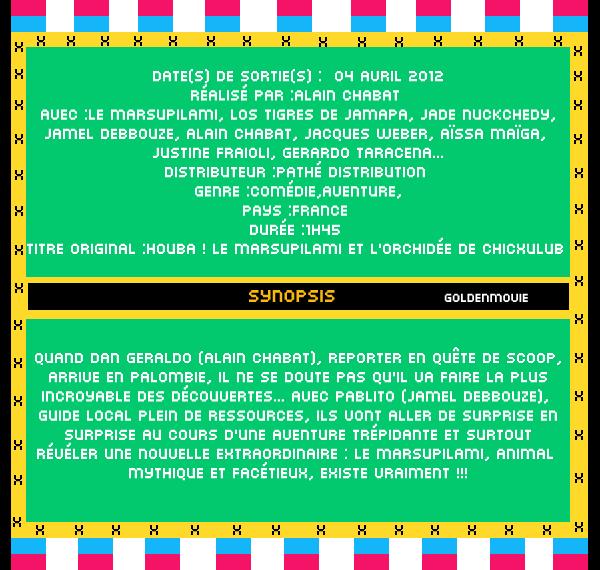 Sur la Piste du Marsupilami sortira le 4 Avril 2012 dans les salles francaise