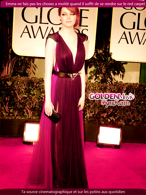 Zoom sur l'Evolution d'Emma Stone sur le Red Carpet + sur le Look
