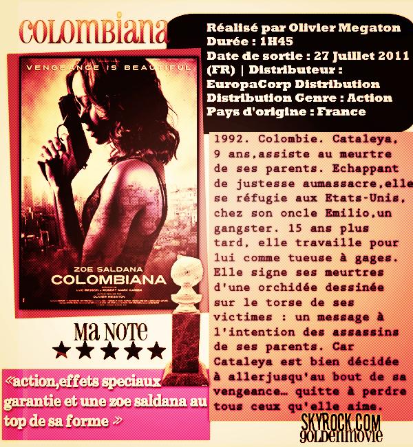 Colombiana sortie le 27 juillet 2011