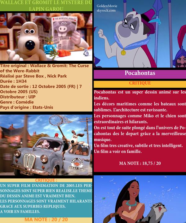 Wallace et Gromit  Le Mystere du Lapin Garou + Disney + Calendrier du mois de Decembre 2012