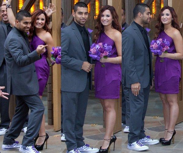 * 12 Novembre 2011 : Demi accompagné de Wilmer au mariage de son amie Tiffany Thornton. *