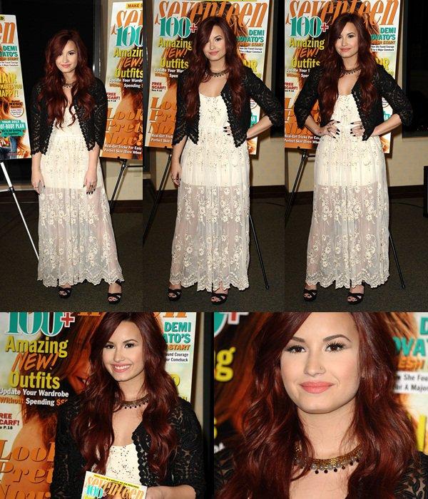 * 4 Janvier 2012 : Demi a signé des autographes pour le magazine Seventeen! Flop. *