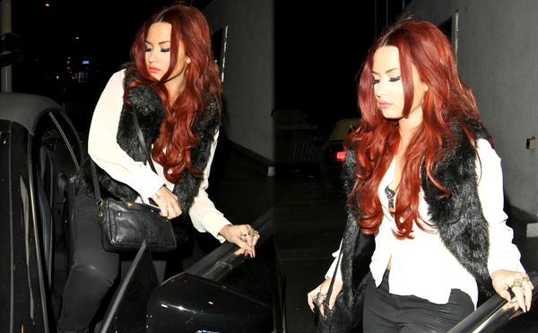 * 15 Janvier 2012 : Demi sortant de son hôtel à Hollywood.  *
