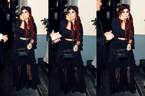 * 7 Janvier 2012 : Demi sortant du Lexington Social Club, à Hollywood. *