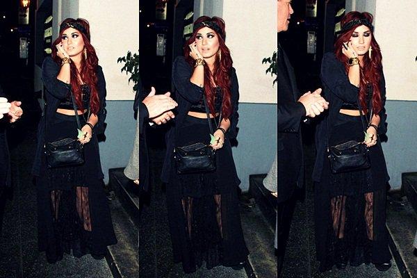 * 7 Janvier 2012 : Demi sortant du Lexington Social Club, à Hollywood. *