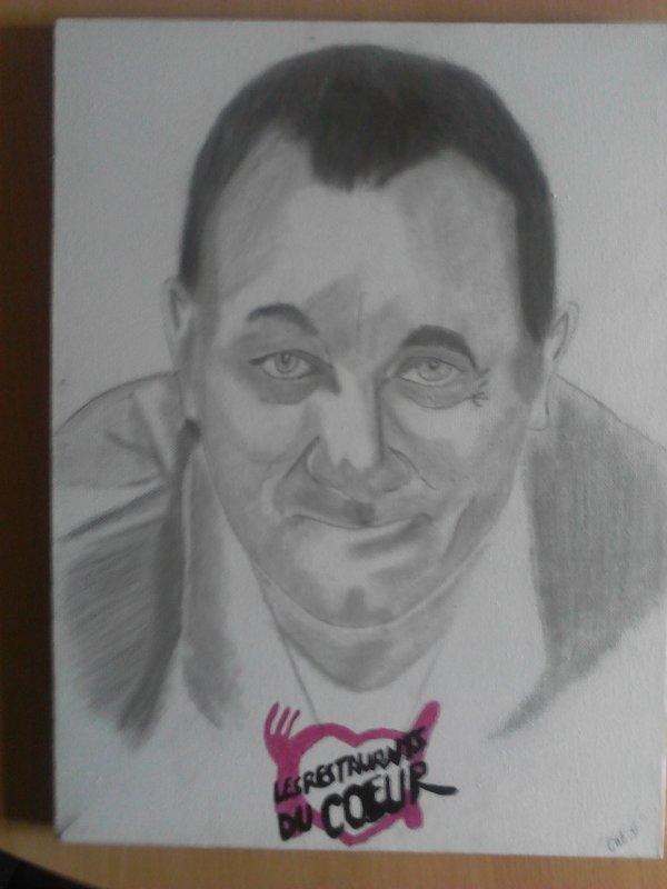 portraits au crayon et fusain d'après photo