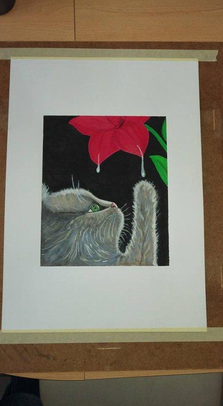 peinture acrylique sur feuille toilé