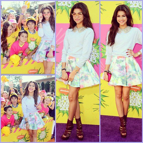 23/03/2013 Zendaya etait au Kids Choice Awards