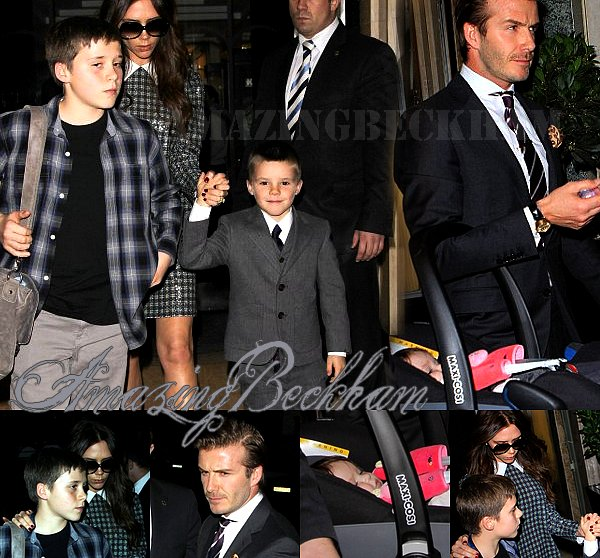 Le 31 Decembre 2011, Comme la plupars des gens, Les Beckham ont fêtés le nouvel an. Ils étaient dans un hotel a Londre.