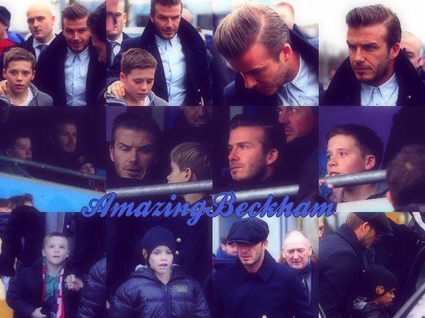 Enfin de retour !! Le 8 janvier 2012, David et les garçons sont allé a la FA Cup Game.