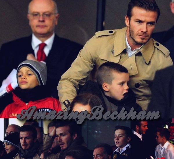 Le 10 janvier 2012, David et les garçons ont atterit a Los Angeles, apres ces belle vacances passées en Angletterre, ils sont de retour a la maison. Ils etaient aussi allés voir le match qui opposé Arsenal a Leeds.