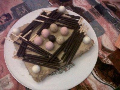 le gâteau d'anniversaire de mon homme!lol miam