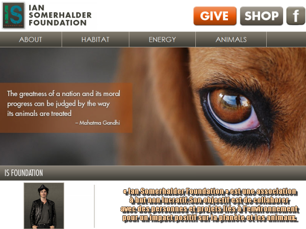 | Ian Somerhalder Foundation |