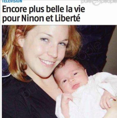 Aurélie Vaneck & sa fille Liberté :)