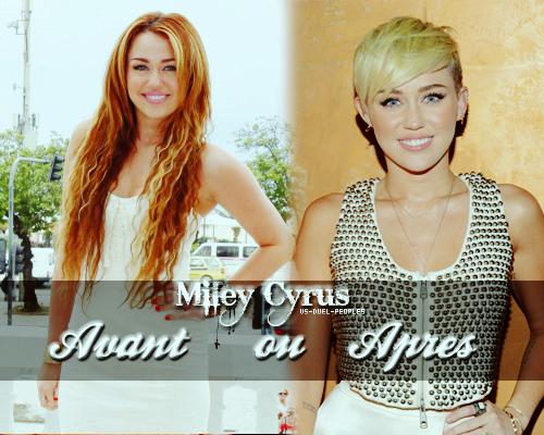 Miley Cyrus : Avant ou Après