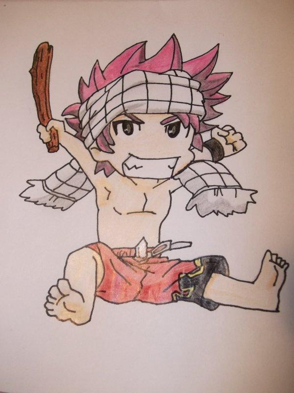 Un Natsu chibi dessiné par moi ^^
