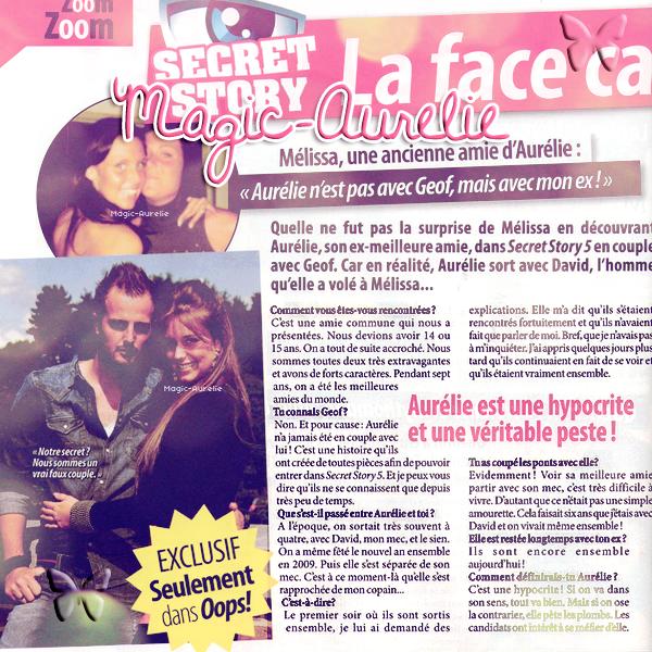 MAGIC-AURELIE ~ FanBlog sur Aurélie Van Daelen ; Article 07; Aurélie dans la presse (2).