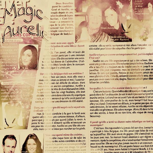 MAGIC-AURELIE ~ FanBlog sur Aurélie Van Daelen ; Article 08 ; Aurélie dans la presse (3).