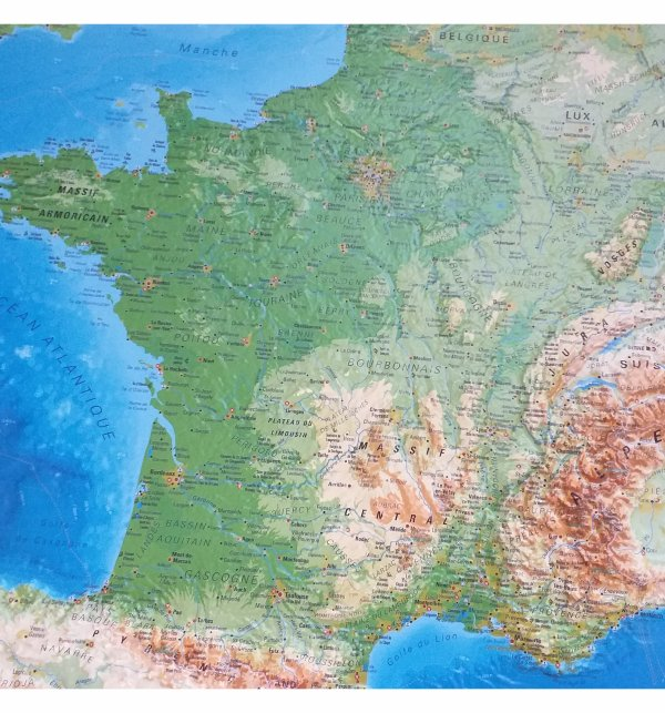 carte de France en 3 D