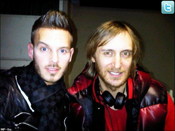 M. Pokora et David Guetta au concert de Usher le 24 janvier 2011