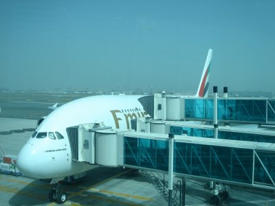 a380 a DUBAI  vol DUBAI PARIS ( PARIS ROISSY CHARLES DE GAULE)