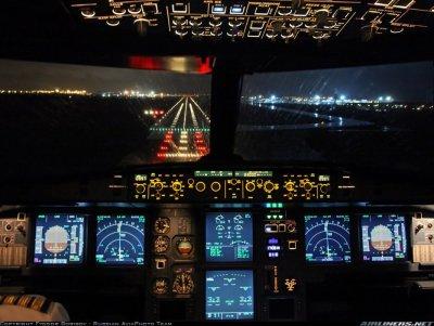 Cockpit d'un A320 d'Aeroflot