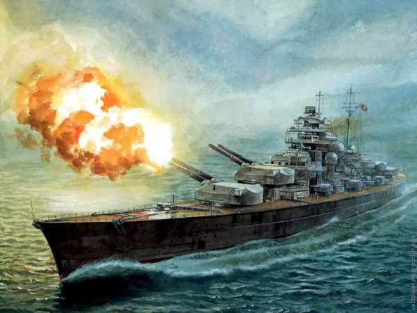 un navire de guerre