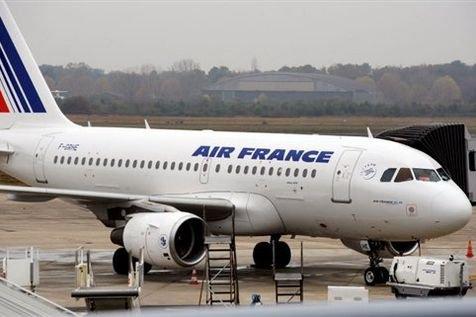 Un a320 d'Air France. en préparation