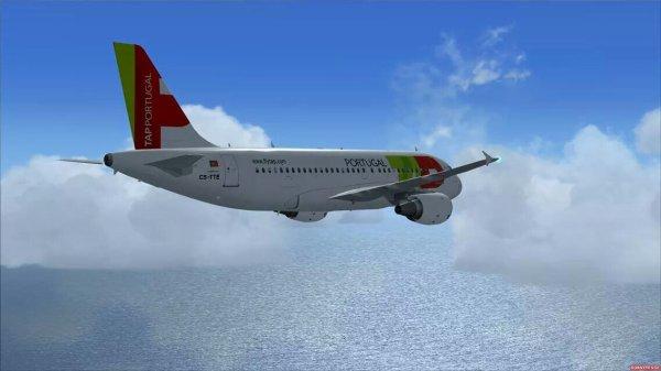 En plein vol  pour  madère venant  de Lisbonne   ( a319  tap  Portugal )