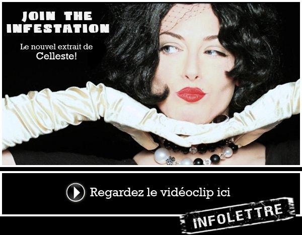 JOIN THE INFESTATION, le premier extrait du nouvel album de CELLESTE