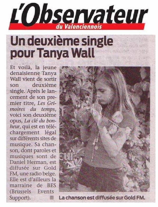 TANYA WALL : La marraine de BES, la presse en parle !!!