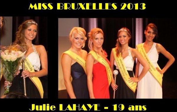 Miss Bruxelles 2013 - Julie LAHAYE
