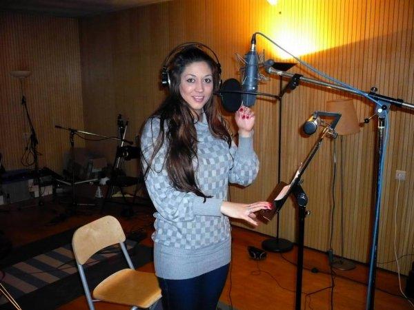 """MAI PIERLOT en studio pour 2 nouvelles chansons - Studio """"MUSICLAB"""" à Bruxelles"""